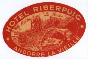 Hotel label luggage labels baggage Andorra   #285
